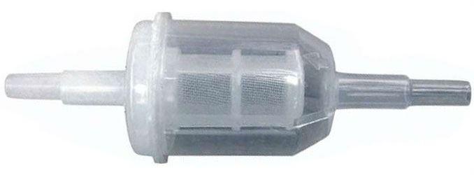 Filtr paliva na naftu nebo vodu 36x106mm pro hadičky 6 nebo 8mm