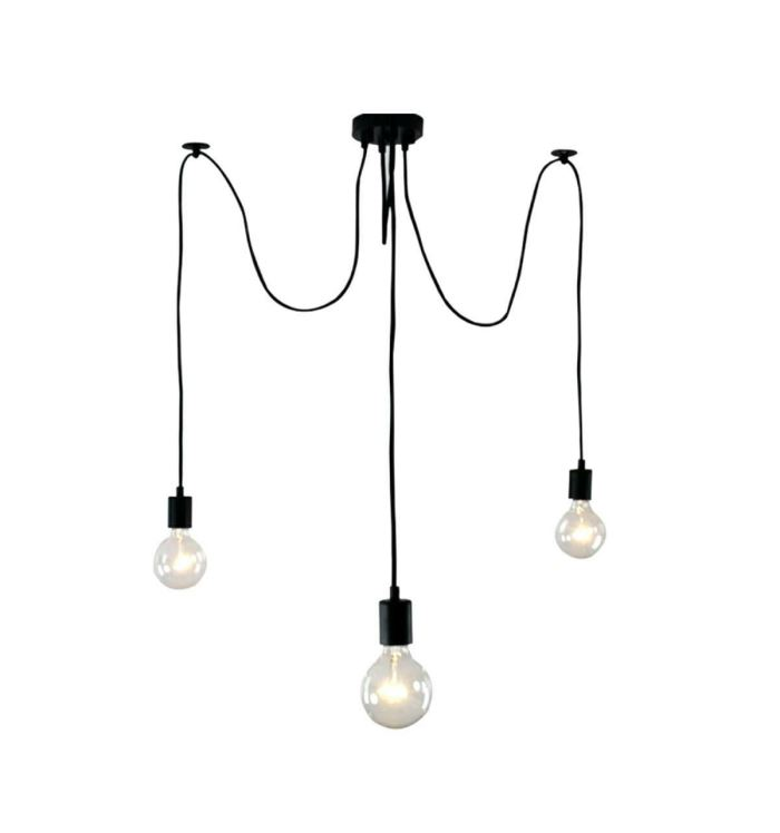 Černé stropní svítidlo, 3 x E27