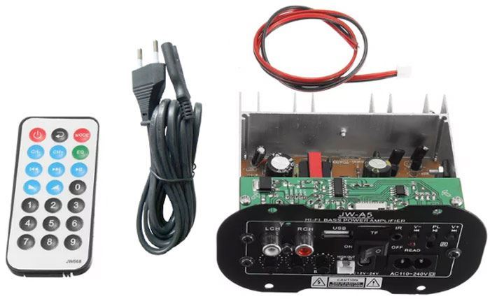 Zesilovač 20W RMS + bluetooth + FM přijímač JW-A5