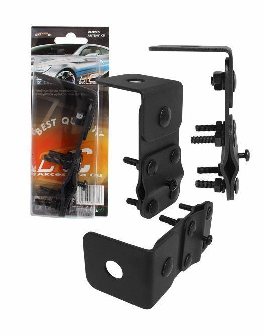 Držák vozidlové CB antény  na zrcátko nebo střešní lyžiny, LTC