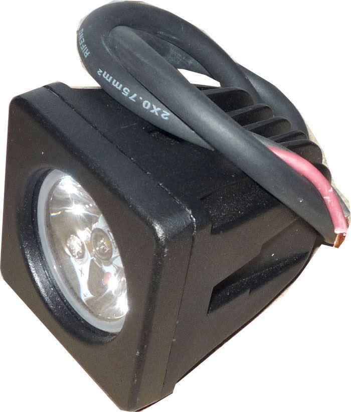 Pracovní světlo LED 10-30V/10W dálkové - použité, funkční,chybí držáky