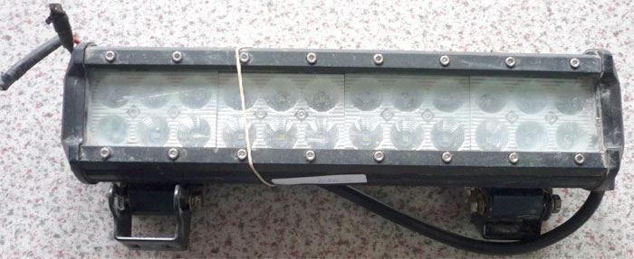 Pracovní světlo LED rampa 10-30V/72W l=30cm, použité, funkční