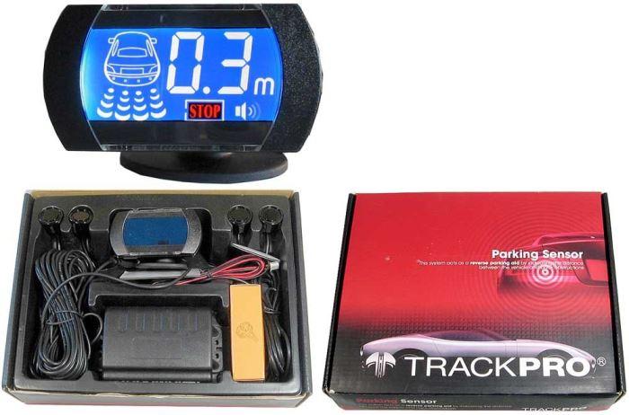 Parkovací alarm se 4 senzory a LCD displejem, použité bez displeje