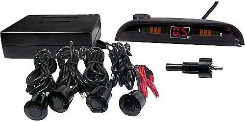 Parkovací alarm se 4 senzory a LED displejem, vadný,kompletní
