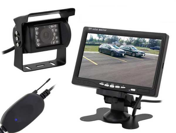 """Bezdrátová couvací kamera s monitorem LCD 7"""", nejde monitor"""