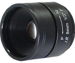 Objektiv CS 8mm 1,6MP s pevnou clonou