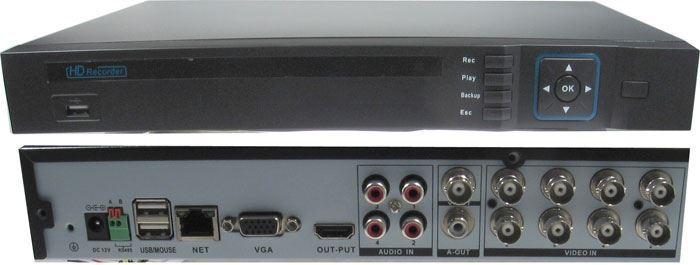 DVR 1080P 8kanálový, 2x SATA, vadný