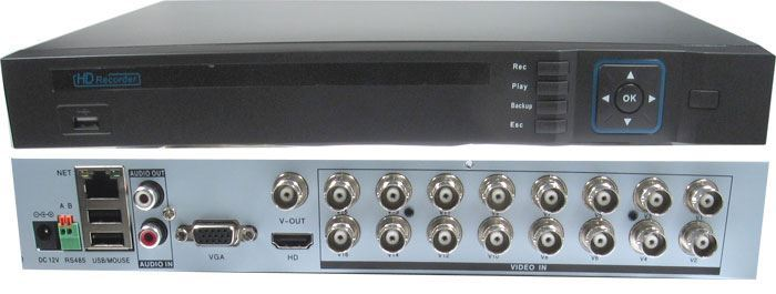 DVR AHD 1080P, 16kanálový  AVR216, 25sn/sec, 2xSATA, vadný