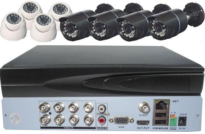 Kamerový systém 720P JW108K-V10 (DVR+8kamer CMOS)