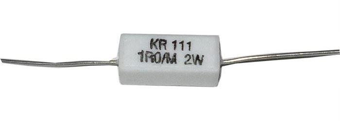 1R0 , rezistor drátový 2W KR111