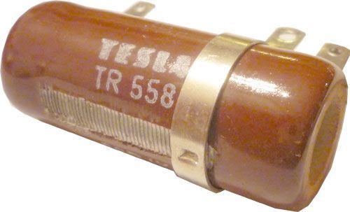 100R TR558 rezistor 25W drátový s odbočkou