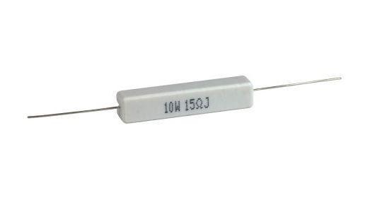 15R , rezistor 10W axiální keramický, 55%