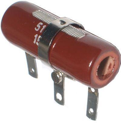 100R TR557, rezistor 15W drátový s odbočkou