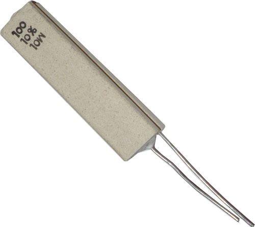100R/10% rezistor 10W drátový keramický /~WK66951/