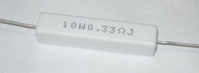 0,33R keramický rezistor 10W, 5%, 300ppm, 350V