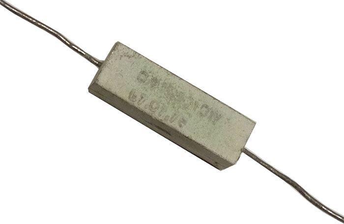 0,91R rezistor 10W drátový keramický, 5%