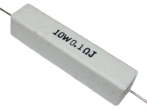 0,10R keramický rezistor 10W, 5%, 500V
