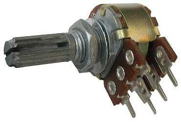 100k/N, hřídel 6x13mm, potenciometr otočný tandemový