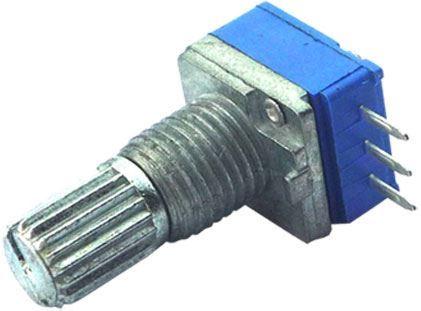 100k/N, WH9011A , hřídel 6x15mm, potenciometr otočný