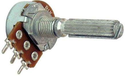 100k/N ALPHA, hřídel 6x20mm, potenciometr otočný