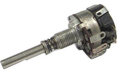 250k/N TP162 25A, potenciometr otočný s tlačítkovým spínačem