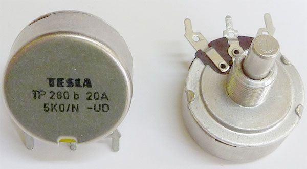 2M5/N TP280 25B, potenciometr otočný