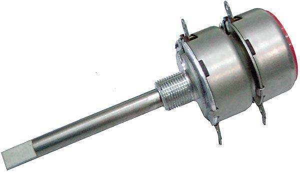 50k/Y TP289 60B, potenciometr otočný tandemový s odbočkou