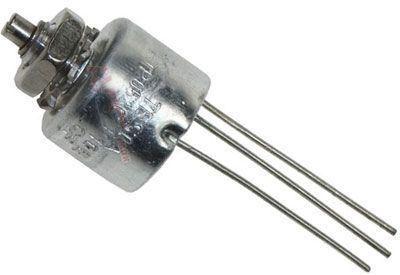 390R/N TP052C 10E, potenciometr otočný cermetový