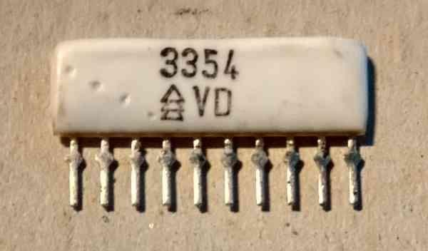 Odporová síť 3354 z radiomagnetofonu GERACORD GC6020