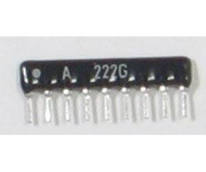 Odporová síť A222G, 8x 2k2