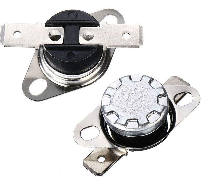Termostat KSD301 65°C bimetalový 250V/10A, spínací-vratný