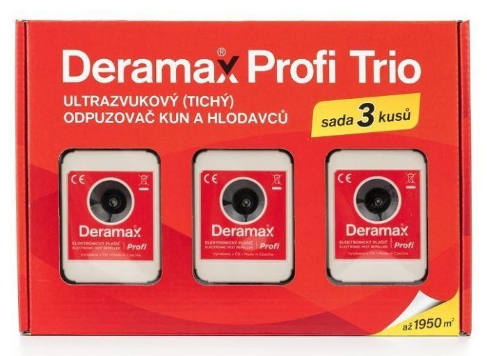 Odpuzovač kun a hlodavců - ultrazvukový DERAMAX-PROFI-TRIO