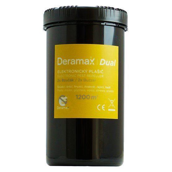 Odpuzovač krtků, hryzců - zvukový a vibrační, bateriový DERAMAX-DUAL