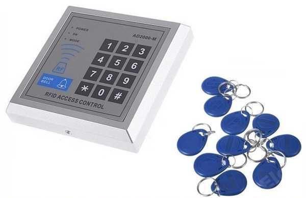 Přístupový systém s klávesnicí a RFID čtečkou + kontaktní čip 10x