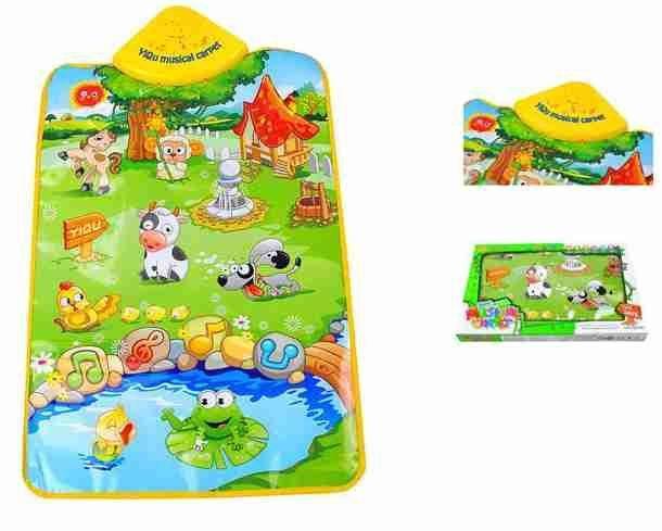 Dětská hrací podložka - zvířecí farma