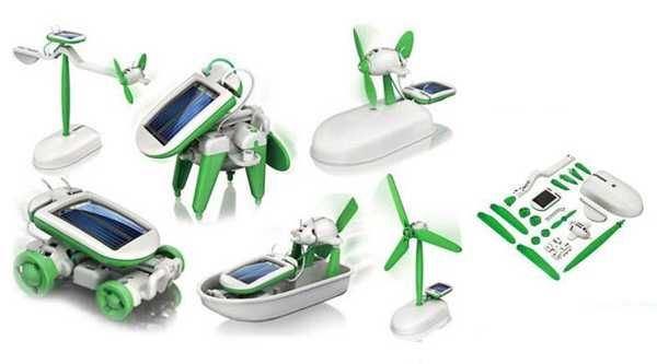 Solární sada hraček 6v1