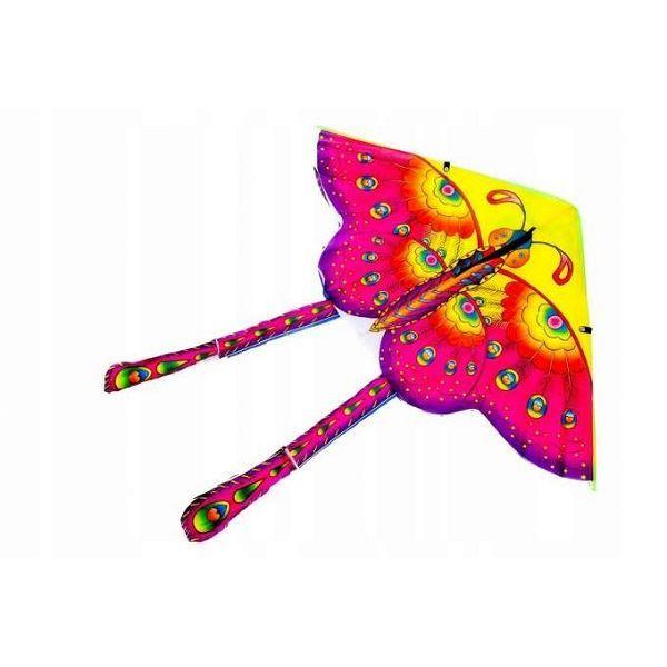 KIK Velký létací drak Motýl 90 x 90 cm