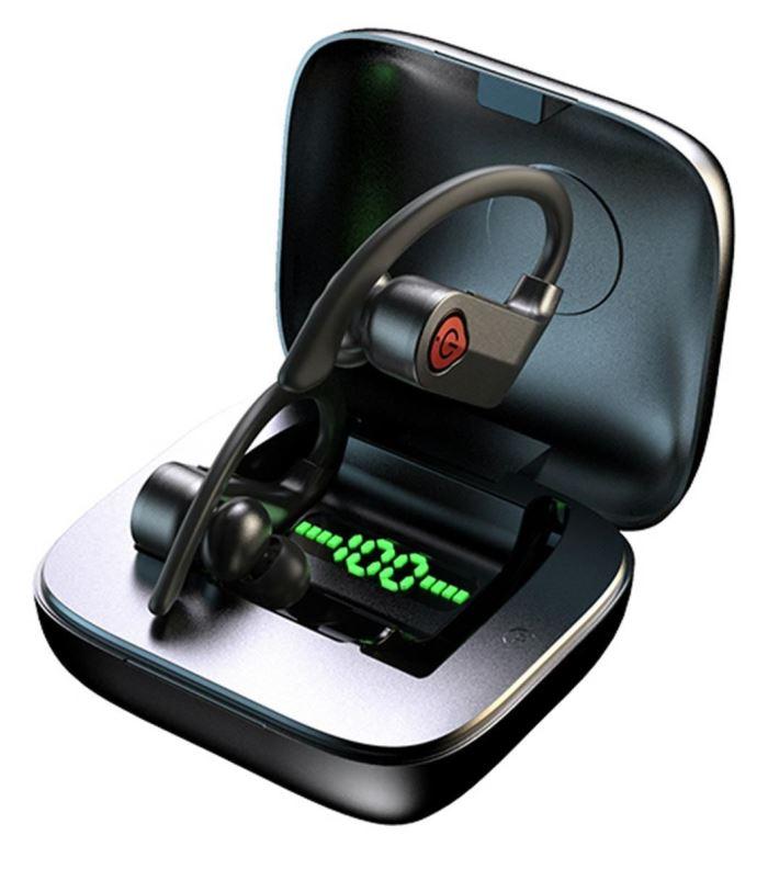 Bluetooth bezdrátová sluchátka, magnetické dobíjení