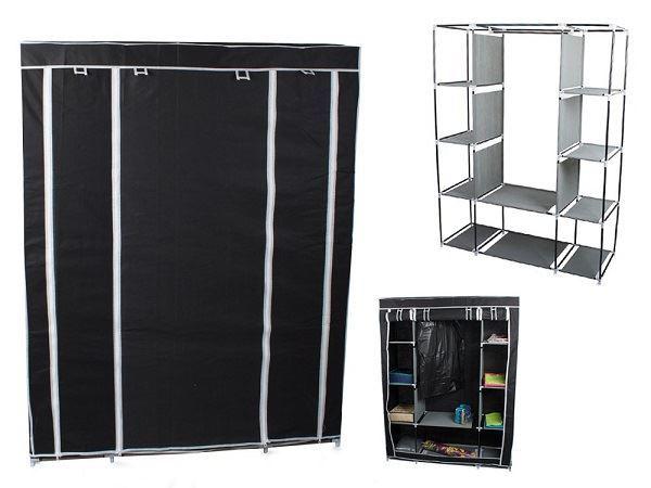 Textilní skříň, černá