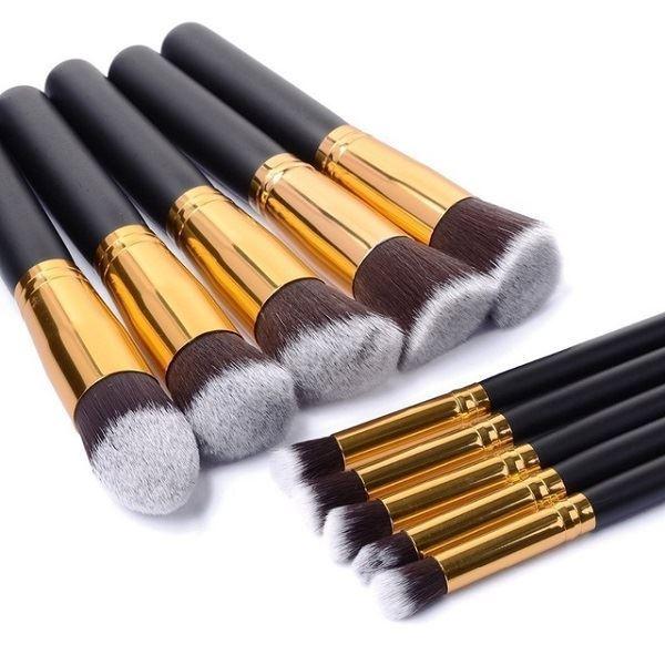 Sada kosmetických štětců - 10 kusů, KIK KX9781