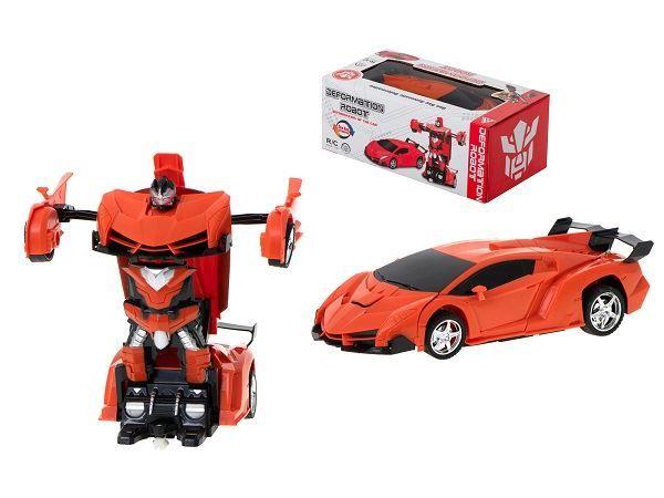 RC auto/robot 2v1 červené