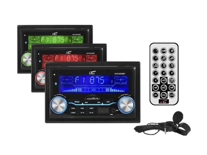 Autorádio FM LTC, 2DIN vstupy AUX / USB / SD, 4x55W, Bluetooth