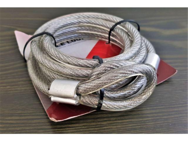 Bezpečnostní ocelové lanko zámek, 200cm/10mm