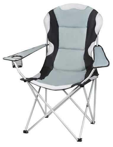 Kempingová židle skládací - rybářské křesílko černo - šedé