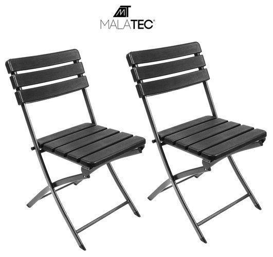 Skládací zahradní židle černá 2 ks