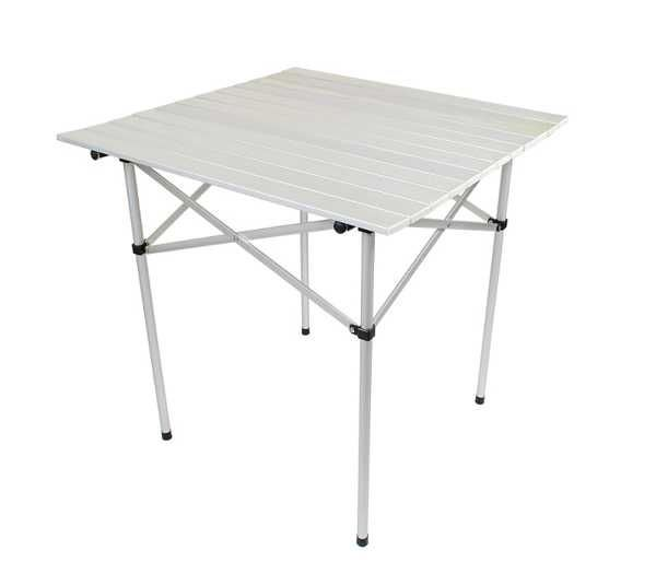 Kempingový hliníkový skládací stůl 70x70cm
