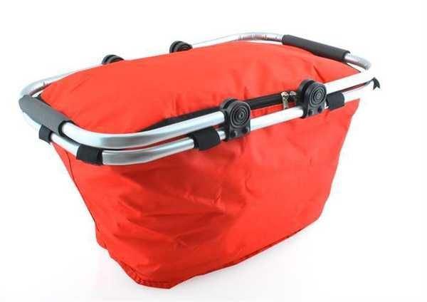 Nákupní skládací košík - červený