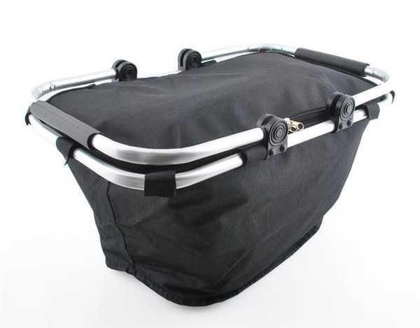 Nákupní skládací košík - černý