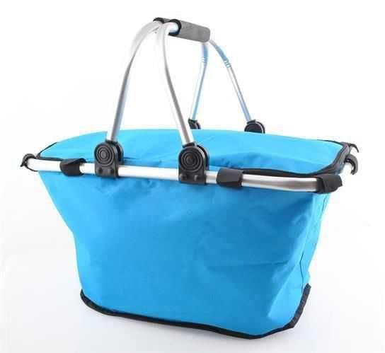 Nákupní skládací košík - modrý