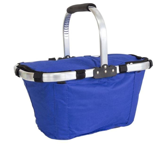 Nákupní skládací košík - modrý, skládací